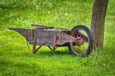 agriculture cart close up countryside